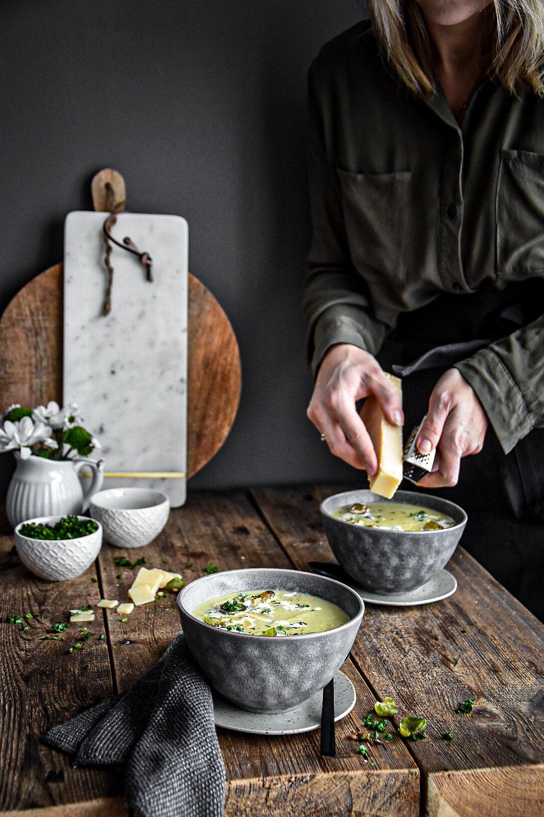 Rosenkohl - Gemüsesuppe