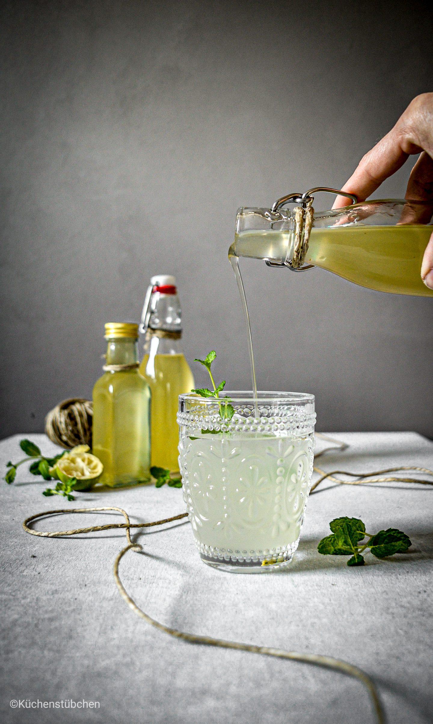 Limetten Minz Sirup
