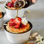 Milchreis Überbacken mit frischen Erdbeeren