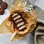 Nicecream Sandwiches Eis in einer Schüssel
