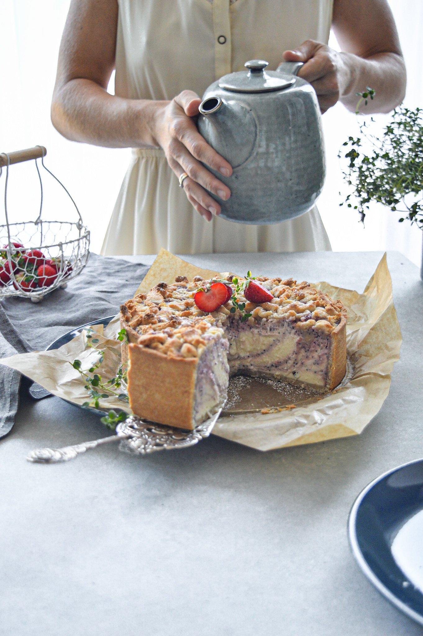 Sommerkuchen mit Frau