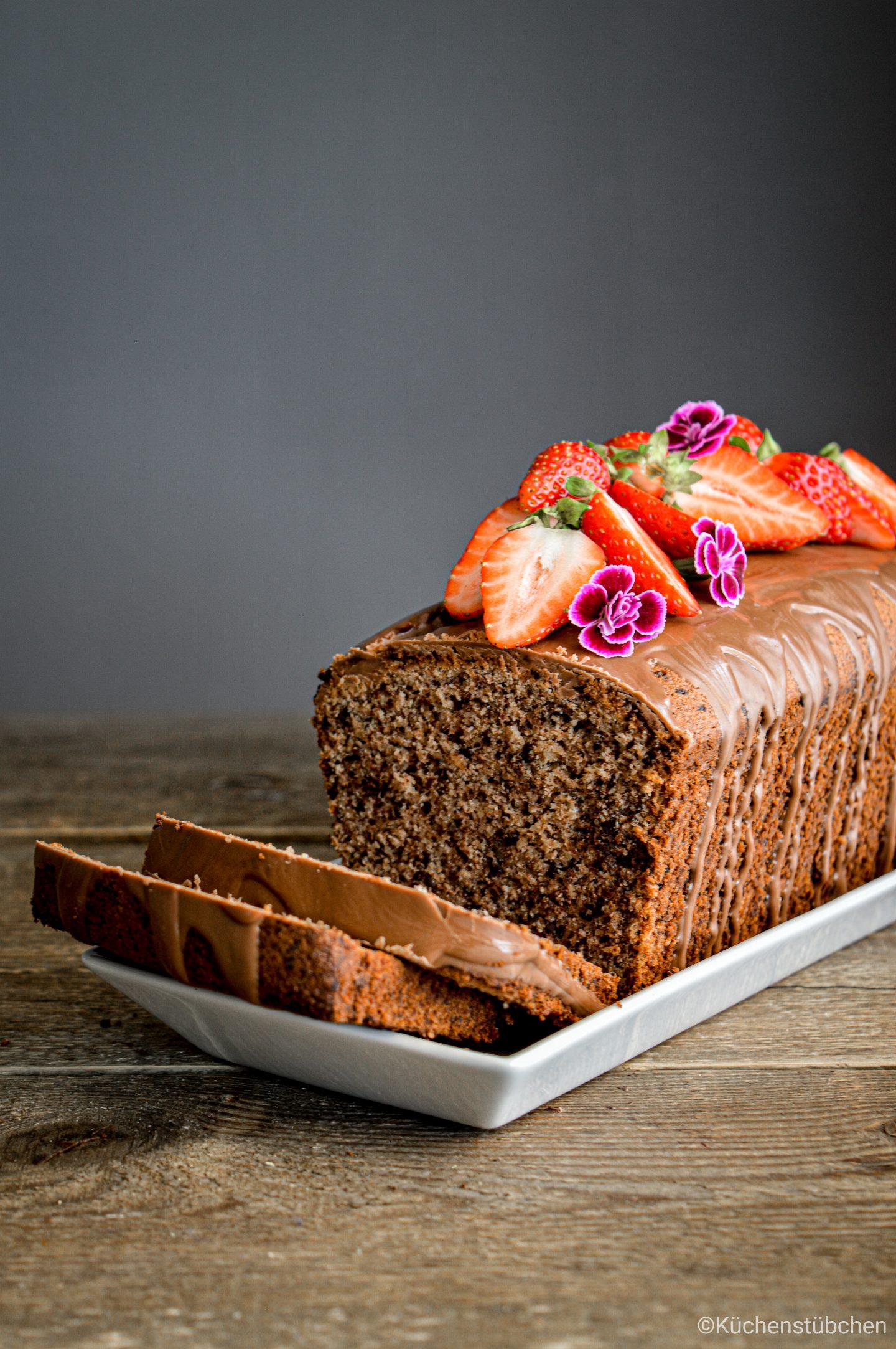 Saftiger Schokonuss Kuchen
