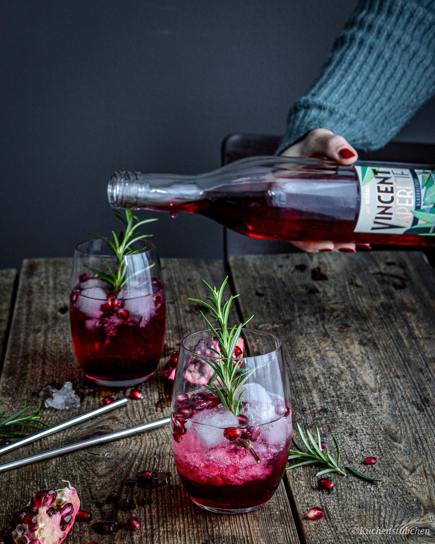 VINCENT Aperitif Wintertonic mit Granatapfel