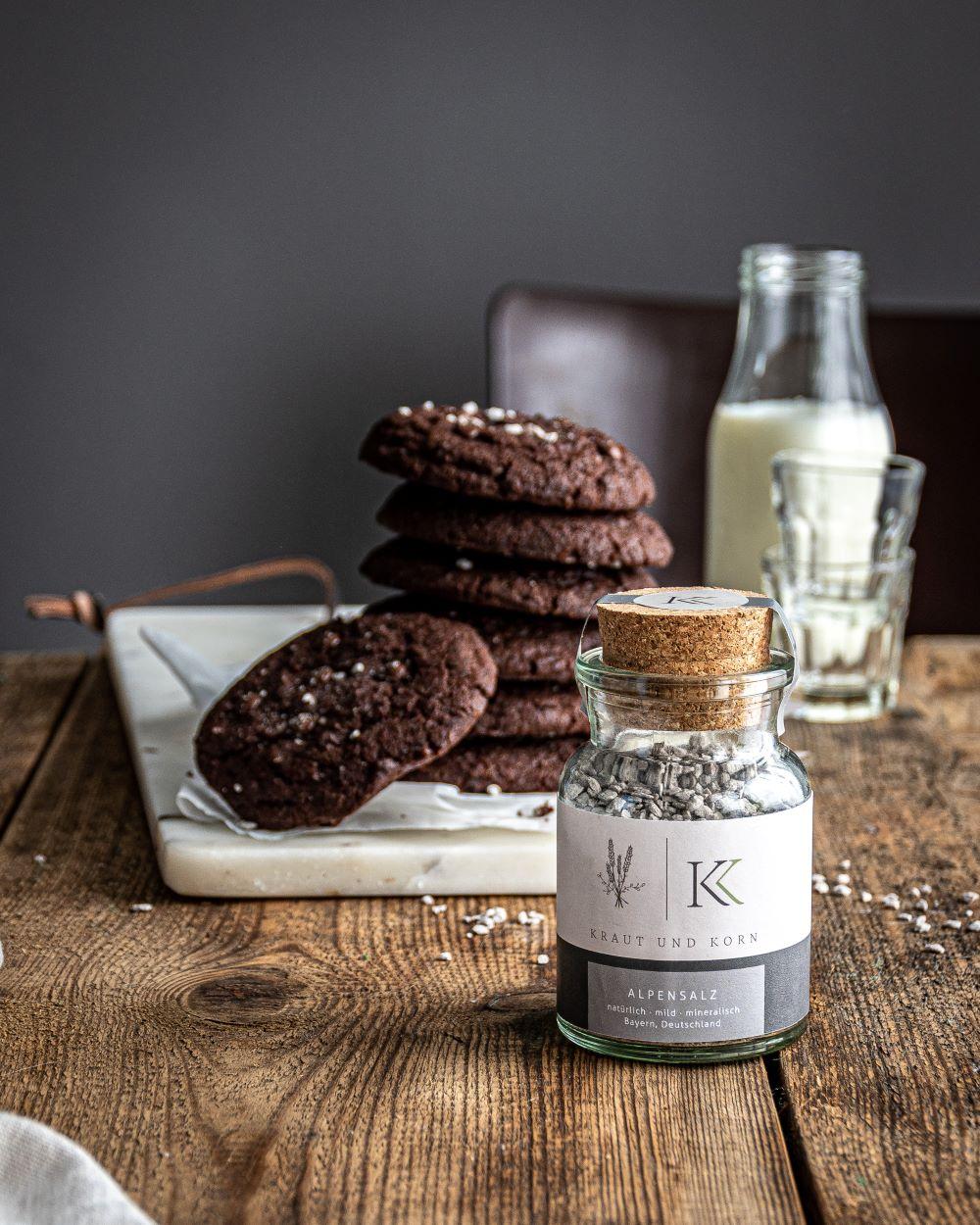 Schoko Cookie Kraut und Korn